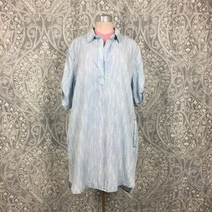 NWT Philosphy Meteor Stripe Chambray Tunic Dress